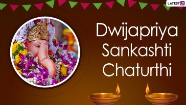 Dwijapriya Sankashti Chaturthi 2021 Wishes, Greetings and HD Images: Ganpati Pics, Vighneshwar Photos, Lord Ganehsa Quotes, GIFs & Telegram Messages to Share on Chaturthi