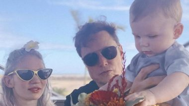Elon Musk Tweets Family Photo With Son X Æ A-12 and Girlfriend Grimes With Quirky Caption 'Starbase, Texas'