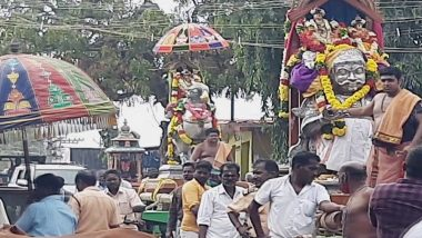 Shivaratri 2021: Devotees Welcome Idol of Swami Ambal in Tamil Nadu's Rameswaram
