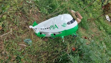 Jammu and Kashmir: Aircraft-Shaped Balloon With 'PIA' Written on It Recovered by Police in Bhalwal