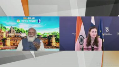 India-Finland Virtual Summit: PM Narendra Modi Interacts With Finland Prime Minster Sanna Marin (Watch Video)