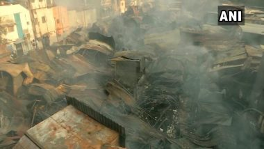 Pune Fire: Over 500 Shops Gutted in Blaze at Fashion Street Market, No Casualties Reported