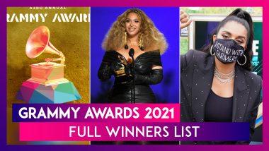 Grammy Awards 2021: Full Winners List & YouTuber Lilly Singh's Pro-Farmer Message
