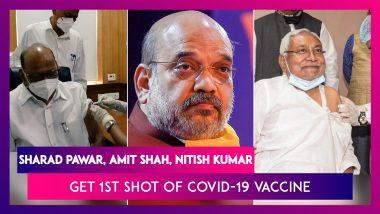 Sharad Pawar, Amit Shah, Nitish Kumar, Yashwant Sinha Among Senior Politicians Who Got First Shot Of COVID-19 Vaccine