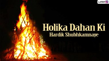 Holika Dahan 2021 Wishes in Hindi & Happy Holi in Advance Greetings: 'Holi Hai' HD Images, WhatsApp Stickers, Quotes and GIFs to Send Ahead of Dhulandi