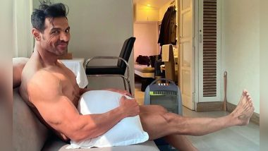 John Abraham Posing With Just A Pillow Has Fans Thirsting Over All The Possibilities (View Pic)