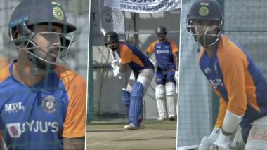 KL Rahul Can't Wait to Take the Field at Narendra Modi Cricket Stadium in Ahmedabad, Shares Glimpses from Training Session Ahead of IND vs ENG T20I Series 2021