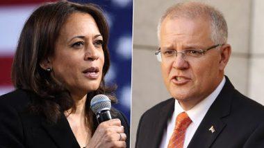 US Vice President Kamala Harris Talks to Australian PM Scott Morrison, Discusses Cooperation on China, Indo-Pacific