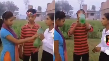 Best Friend or Girlfriend? Hilariously Cringey Video of a Boy Choosing Whose Life to Save After They Drank 'Poisoned' Water Has the Most Filmy Ending (Watch Clip)