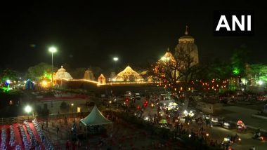 Mahashivratri 2021: Bhubaneswar's Lingaraj Temple Illuminated Ahead of Festival