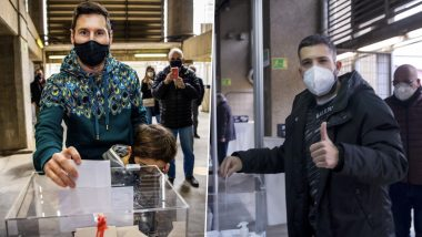 Lionel Messi and Other Barcelona Players Cast Their Votes During Presidential Elections