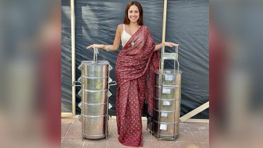 Ram Setu: Akshay Kumar Shares How Nushrratt Bharuccha Arrives on the Set of His Film with Giant Lunch Boxes (See Pic)