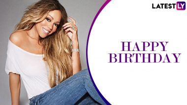 Mariah Carey Birthday: All I Want For Christmas is You and Other Chartbuster Songs of the Singer to Listen to on Her Special Day (Watch Video)