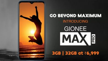 Gionee Max Pro Budget Smartphone Launched in India for Rs 6,999