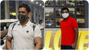 IPL 2021: MS Dhoni, Ambati Rayudu Reach Chennai For CSK Camp Which Will TentativelyStart From March 8 or 9 (See Pics & Video)