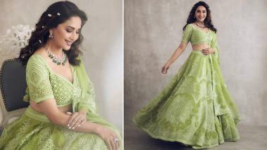 Madhuri Dixit Personifies Beauty in a Lovely Traditional Green Attire! (View Pics)