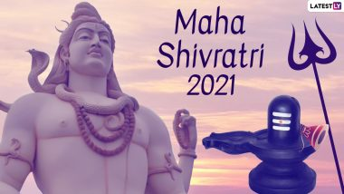 Happy Mahashivratri 2021 HD Images, Wishes & Greetings: Send Messages, WhatsApp Stickers, Facebook Lord Shiva Pics, Shivratri Signal Greetings, Telegram Photos and GIFs To Celebrate the Day