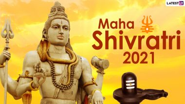 Maha Shivratri 2021 Wishes, Bholenath HD Images and WhatsApp Stickers: Celebrate the Great Night of Shiva by Sharing Happy Shivratri Facebook Greetings, Telegram Photos and Signal Messages