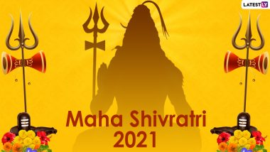 Happy Mahashivratri 2021 Messages and WhatsApp Stickers: Facebook Wishes, Shivratri Signal Greetings, Telegram HD Images and GIFs to Send on the Great Night of Shiva