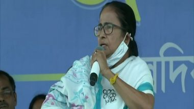 West Bengal Assembly Elections 2021: PM Narendra Modi Should Resign Owning Responsibility for COVID-19 Surge, Says Mamata Banerjee