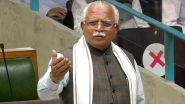 Dearness Allowance Hiked: Haryana CM Manohar Lal Khattar Announces to Increase DA Rate from 17% to 28% Applicable from July 1, 2021