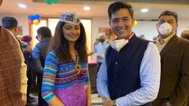 Miss India Delhi 2019 Mansi Sehgal Joins AAP in Presence of Party Leader Raghav Chadha