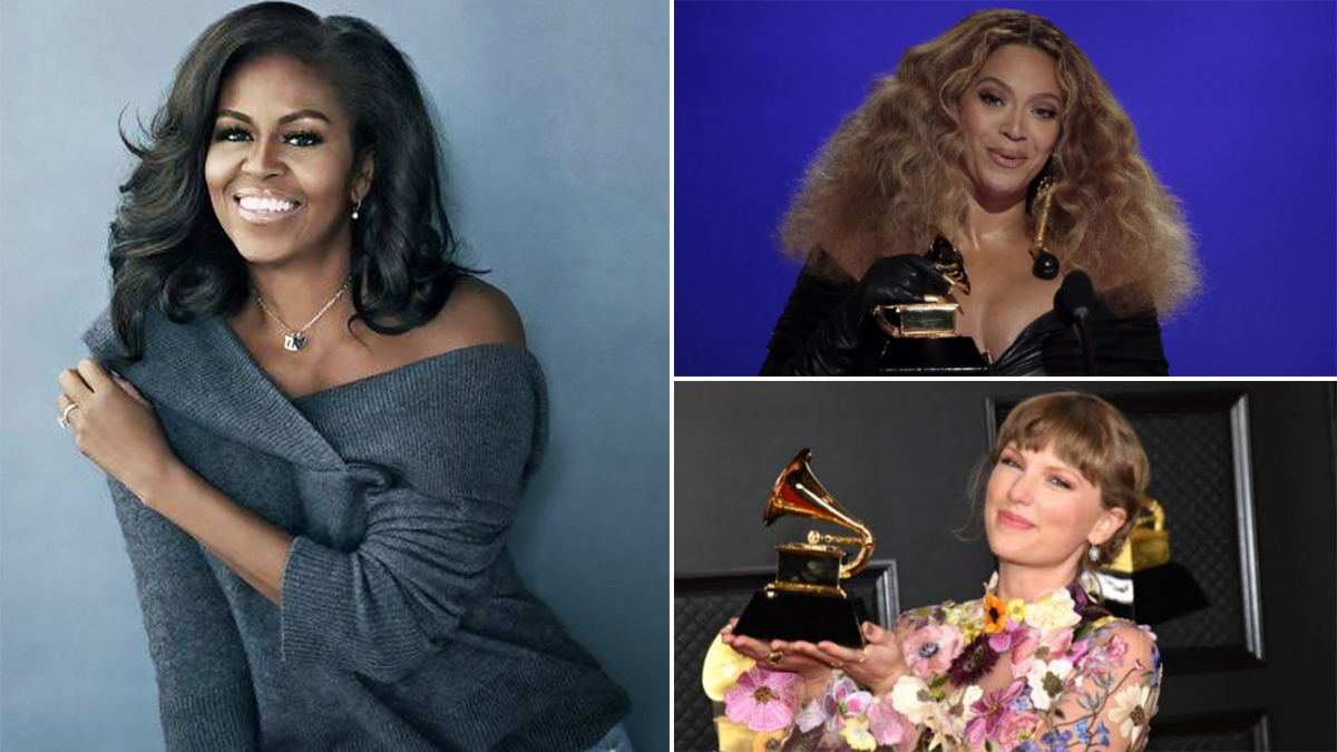 Michelle Obama Congratulates Beyonce, Taylor Swift For Their Historic Wins at the 2021 Grammy Awards