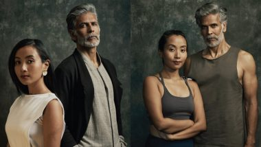 Lakme Fashion Week 2021: Milind Soman and Wife Ankita Konwar Support Sustainable Fashion by Posing in Leather-Free Couture (View Pics)