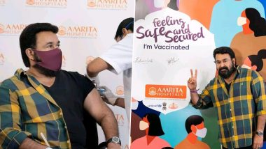 Drishyam 2 Star Mohanlal Gets COVID-19 Vaccine, South Superstar Thanks Medical Workers for Their Relentless Efforts