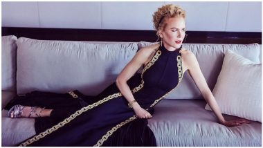 Nicole Kidman Mesmerises Fans in Black Louis Vuitton Dress With Bold Red Lip and Gorgeous Curly Updo at The Golden Globes 2021! (View Pic)