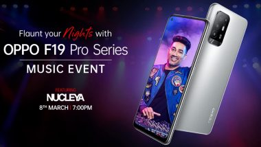 Oppo F19 Pro Series India Launch Set for March 8, 2021