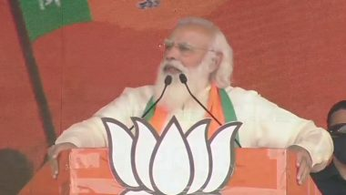 West Bengal Assembly Elections 2021: PM Narendra Modi Addresses Rally at Kolkata's Brigade Parade Ground, Says 'Dream of Sonar Bangla Will be Fulfilled'
