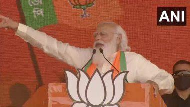 PM Narendra Modi Takes Jibe at Mamata Banerjee, Says 'Didi's Scooty is Destined to Fall in Nandigram'