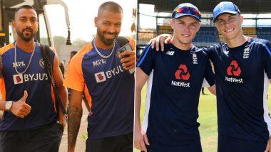 Band of Brothers! Hardik & Krunal Pandya, Sam & Tom Curran Take the Field During India vs England 1st ODI 2021