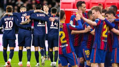 Paris Saint-Germain vs Barcelona, UEFA Champions League Live Streaming Online: Where To Watch UCL 2020–21 Last 16 Match Live Telecast on TV & Free Football Score Updates in Indian Time?