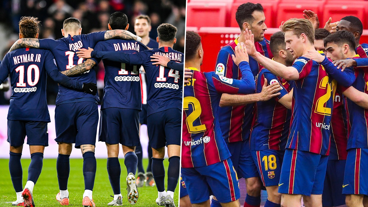 Paris Saint Germain Vs Barcelona Uefa Champions League Live Streaming Online Where To Watch Ucl 2020 21 Last 16 Match Live Telecast On Tv Free Football Score Updates In Indian Time Latestly