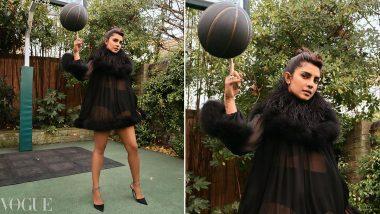 Priyanka Chopra Jonas Stuns in British Vogue Photoshoot, Looks Ravishing While Posing at a Basketball Court (See Pic)