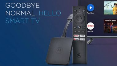 Motorola 4K Android TV Stick Launched in India for Rs 3,999