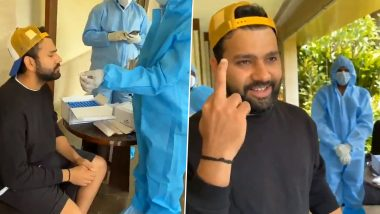 Rohit Sharma Shows Middle Finger as Rishabh Pant Teases Him After COVID-19 Test (Watch Video)