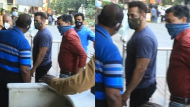 Salman Khan Receives the First Shot of COVID-19 Vaccine at Lilavati Hospital, Mumbai (Watch Video)