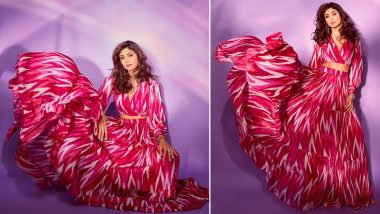 Shilpa Shetty Slays in Pink Designer Ensemble, Says 'Go Pink When You Feel Blue' (See Pics)