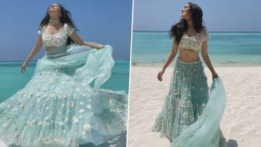 Shraddha Kapoor Twirls in a Blue Lehenga Ahead of Priyaank Sharma and Shaza Morani's Beachy Wedding (Watch Video)