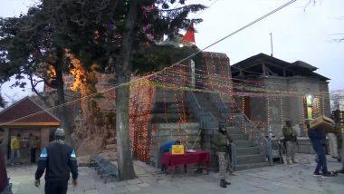 Mahashivratri 2021: Devotees at Shankaracharya Temple in Srinagar Perform Shivratri Puja & Havan, See Pics