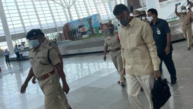 TDP Leader N Chandrababu Naidu Detained by Police at Tirupati Airport in Renigunta
