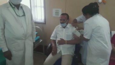Sadananda Gowda Takes First Dose of COVID-19 Vaccine in Karnataka's Bengaluru