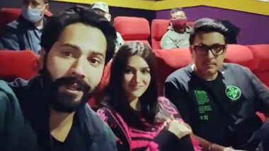 Varun Dhawan, Kriti Sanon and Team Bhediya Attend Special Screening of Roohi (Watch Video)