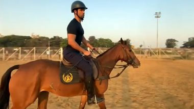 Vicky Kaushal Enjoys the Horse Riding Session on a Sunny Day, Says 'Back to Basics' (Watch Video)