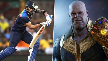 RCB Flaunt Virat Kohli's Records by Comparing Indian Captain to Avengers' Supervillain Thanos (View Post)