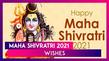 Happy Maha Shivratri 2021 Wishes: Send Messages & Greetings to Seek Lord Shiva's Blessings
