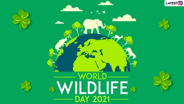 World Wildlife Day 2021 Quotes and Slogans: WhatsApp Stickers, Sayings, Facebook HD Images, Signal Messages and Telegram Greetings to Raise Awareness on Wildlife Protection